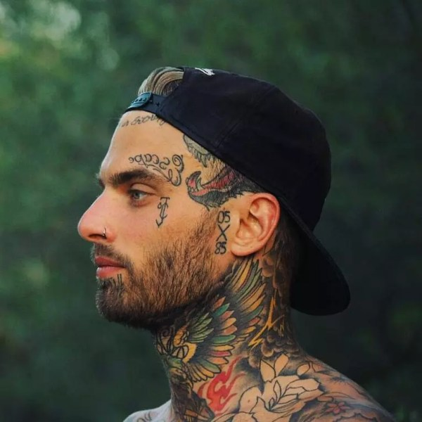 face tattoo design &