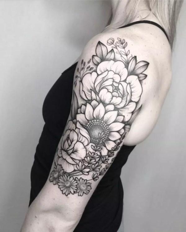 charming feminine tattoo design