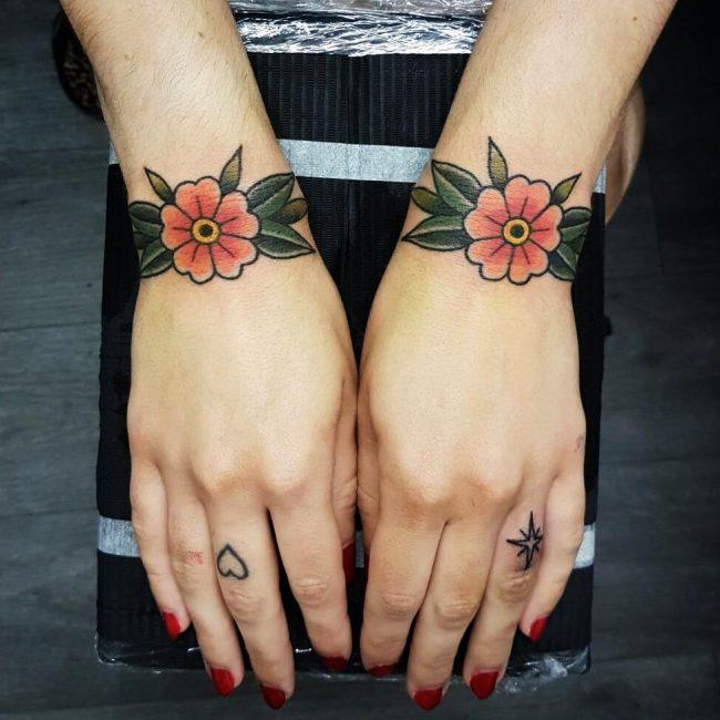 Small Rose Wrist Tattoos For Men