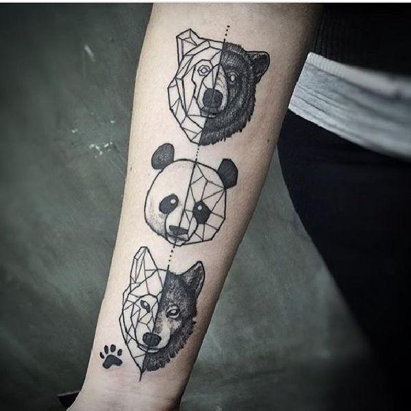 Geometrische Tiermotive  Tattoo Spirit
