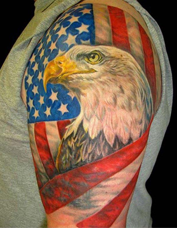 Bald Eagle And American Flag Tattoo : eagle, american, tattoo, Tattoo, Eagle, American, Tattoo.com