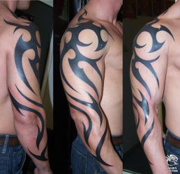 tribal tattoos arm tattoo easy combine forearm designs sleeve arms simple tatoo around mens shoulder tat tattooartgallery side tattooing meanings