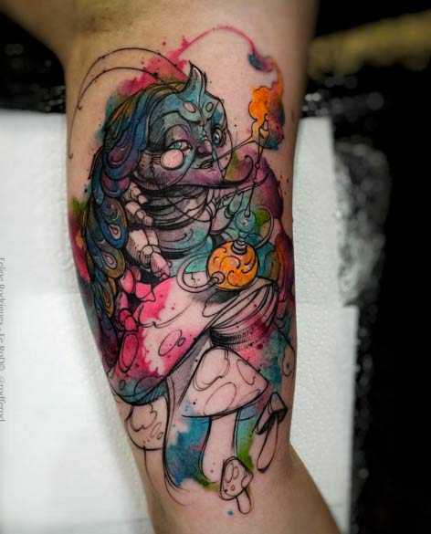 100+ Best Alice In Wonderland Tattoos  Tattooblend