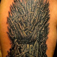 Iron Throne Chair Dining Room Cushion 34 Best Game Of Thrones Tribute Tattoos - Tattooblend