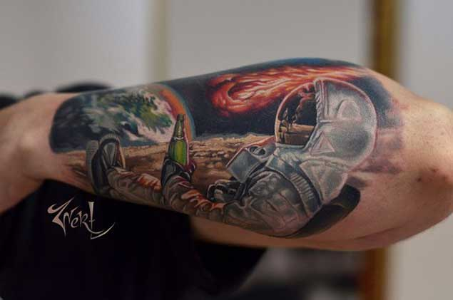 50 Earth Shattering Space Tattoos That Are Literally Out