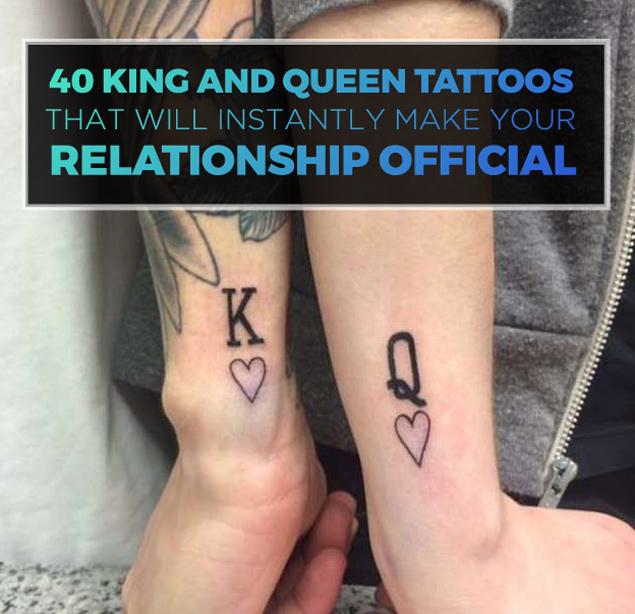 His Queen Tattoo Designs