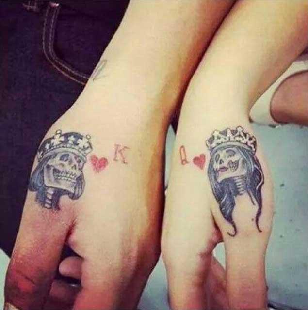 Queen In Cursive Tattoo