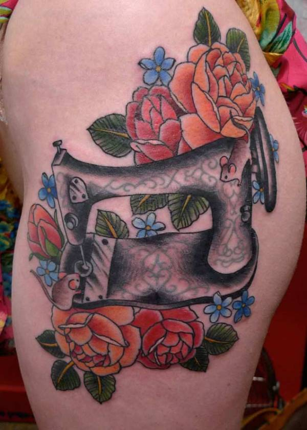 20 Sewing Machine Tattoos Designs Ideas And Designs