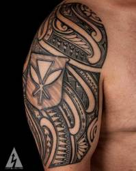 tribal tattoo tattoos arm upper artist kenny brown california down funny earth ridiculously amazing tattooblend meaning passionate giving thank guy