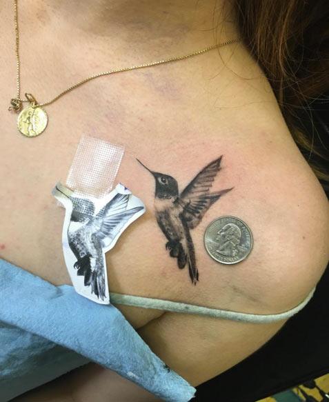 elegant shoulder tattoos