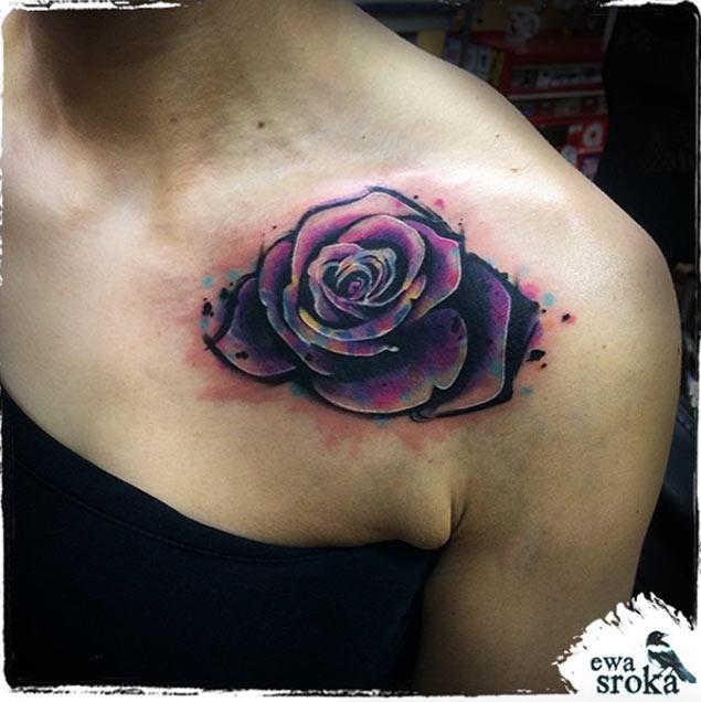 Rose Tattoo Designs On Shoulder