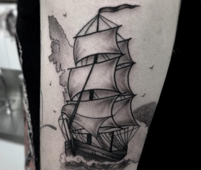 Hms Discovery Ship Tattoo By Moorea Hum