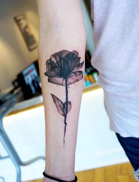 20 Leg X Ray Flower Tattoos Ideas And Designs