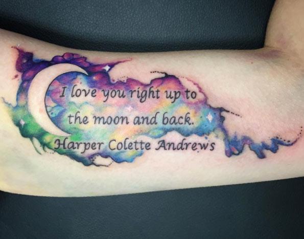 magnificent moon tattoo design