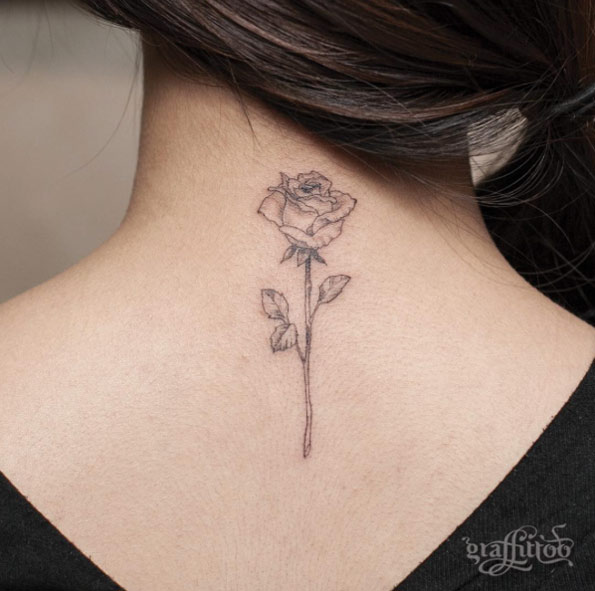 Rose Stem Tattoo Designs