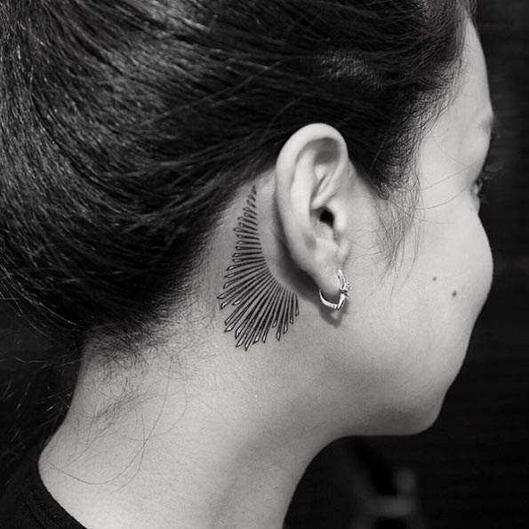 amazing ear tattoos