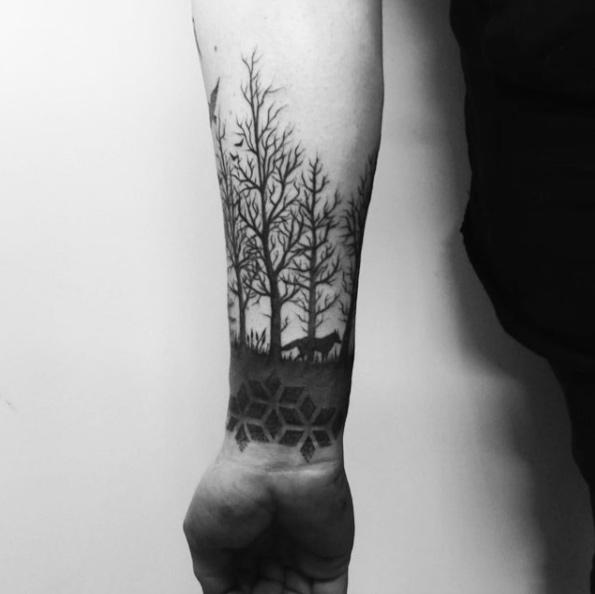 55 Magnificent Tree Tattoo Designs And Ideas TattooBlend