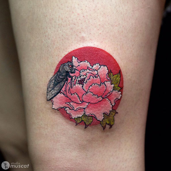 Peony Tattoo Design