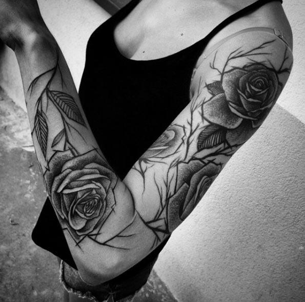 attractive sleeve tattoos