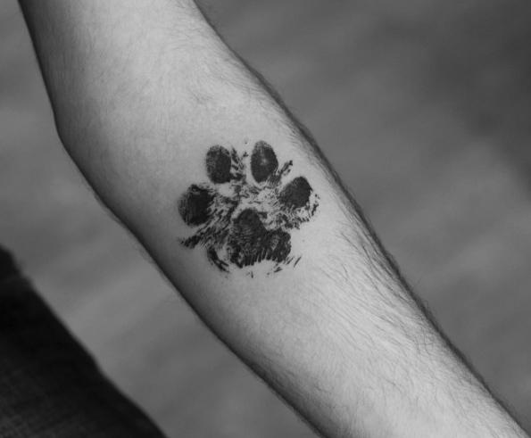 Realistic Hand Print Tattoo