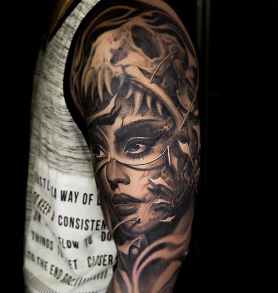 Victor Portugal Skull Tattoo