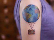 20 Vivid Earth Tattoo Designs and Ideas - TattooBloq