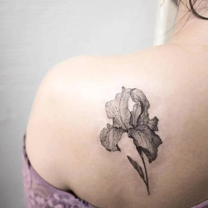 22 Grandiose Iris Tattoo Designs And Meanings Tattoobloq