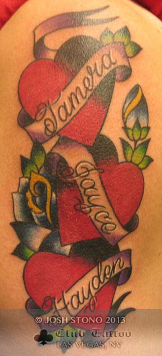 Heart Banner Tattoo : heart, banner, tattoo, Joshstono:hearts-name-rose-banner