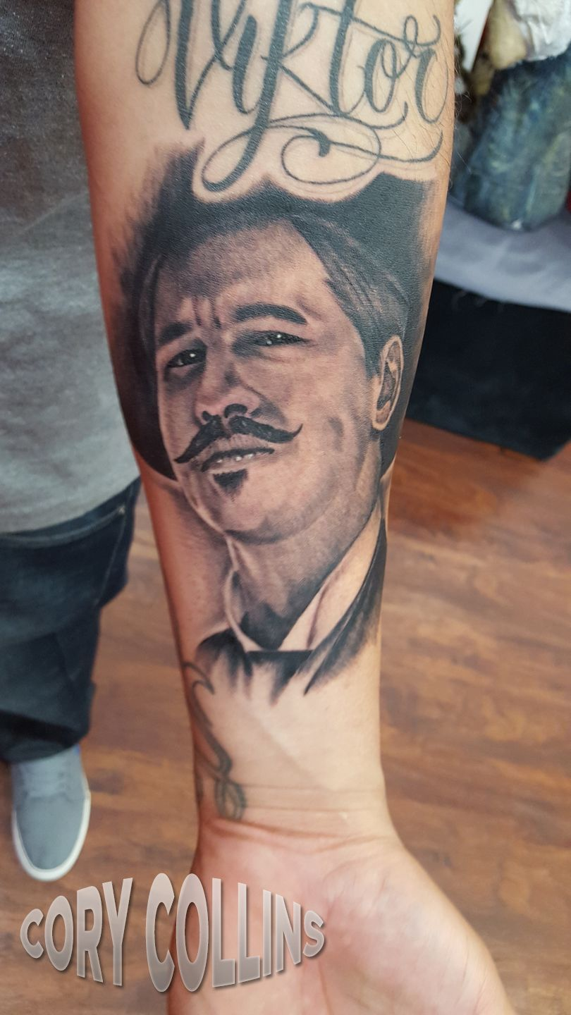 Tombstone Movie Tattoos : tombstone, movie, tattoos, Corycollinstats:ill-be-your-huckelberry-portrat-dynamicblack-realism-black-and-grey-val-kilmer-, Movie-characters-tombstone