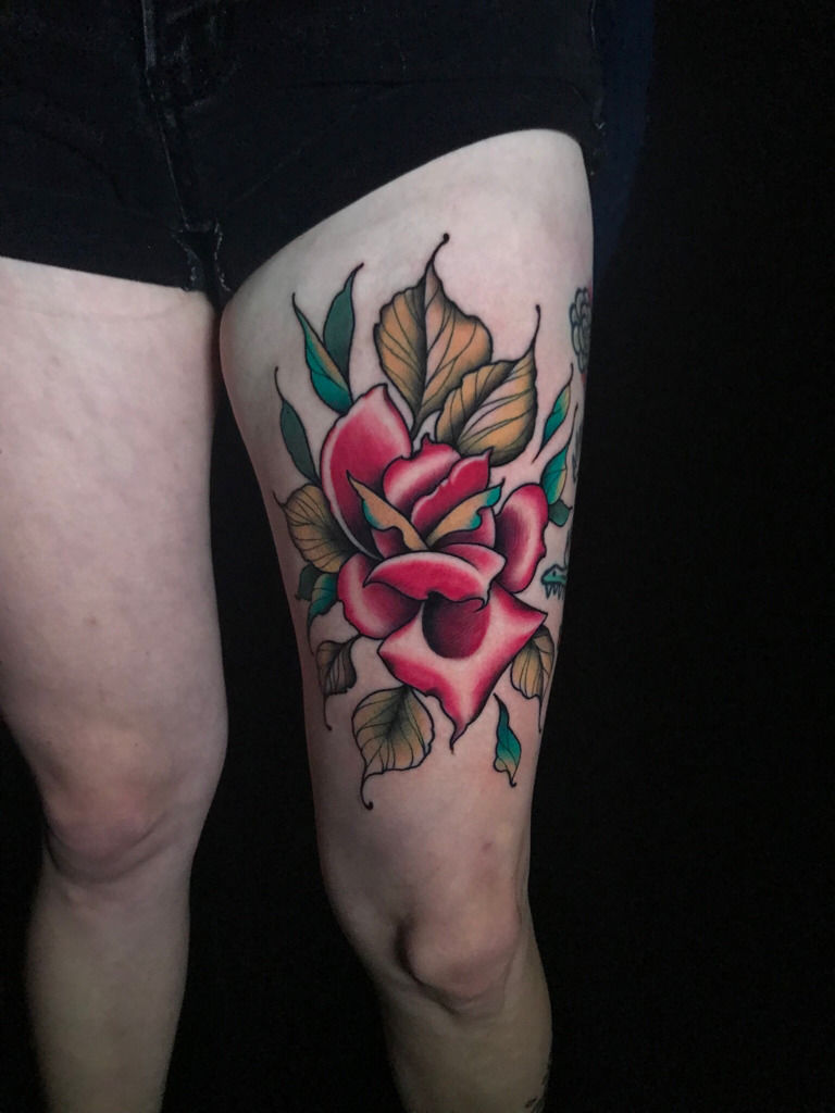 Neotraditional Rose Tattoo : neotraditional, tattoo, C:neotraditional-rose-neo-traditional-rose-neotraditional-rose-rose-tattoo, -neo-trad-cool-tattoo-color-tattoos-girls-with-tattoos