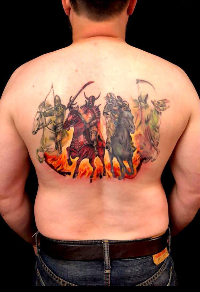 4 Horsemen Tattoo : horsemen, tattoo, Latest, Horsemen, Tattoos