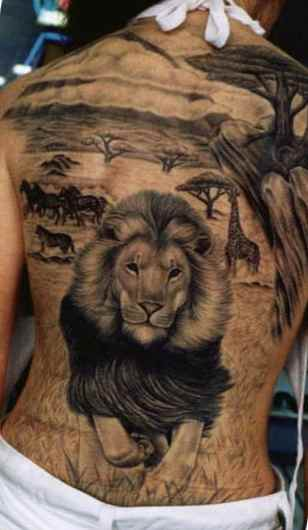 20 Full Body 3d Lion Tattoos Ideas And Designs