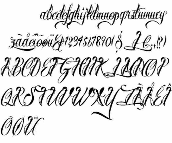 Fancy Tattoo Letters Images - Newletterjdi co