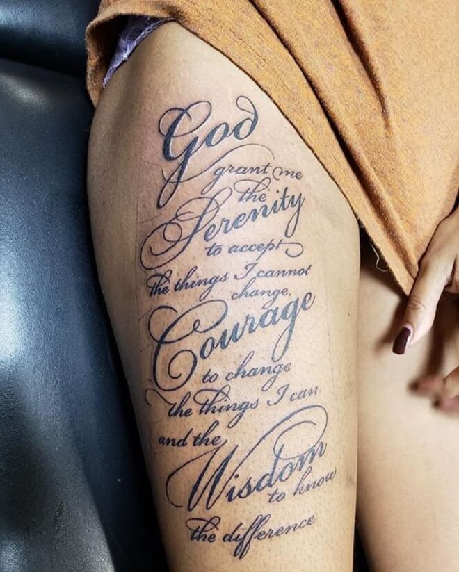 Serenity Prayer Tattoos For Females : serenity, prayer, tattoos, females, Woman, Serenity, Prayer, Tattoo, Design