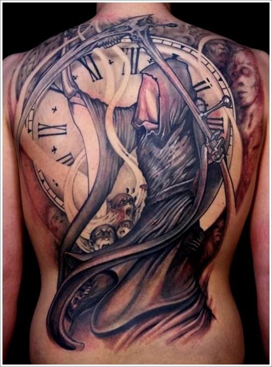 Female Grim Reaper Tattoos : female, reaper, tattoos, Horrifying, Reaper, Tattoo, Designs