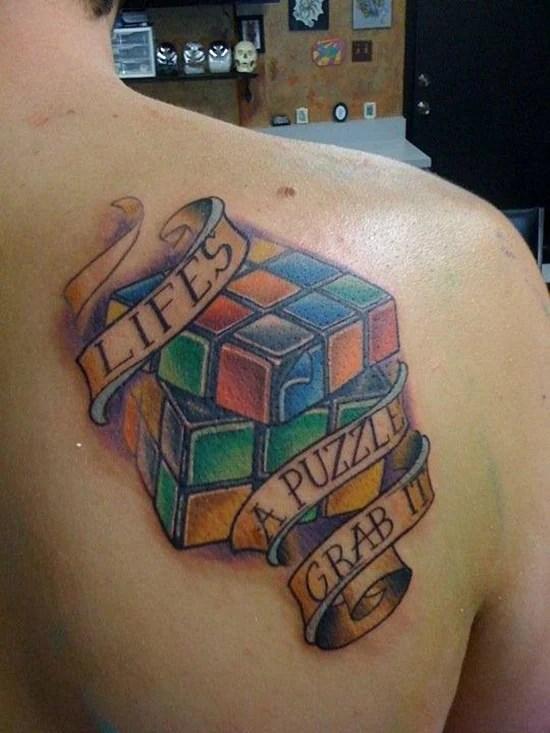 Puzzle Tattoos : puzzle, tattoos, Smart, Puzzle, Tattoo, Designs