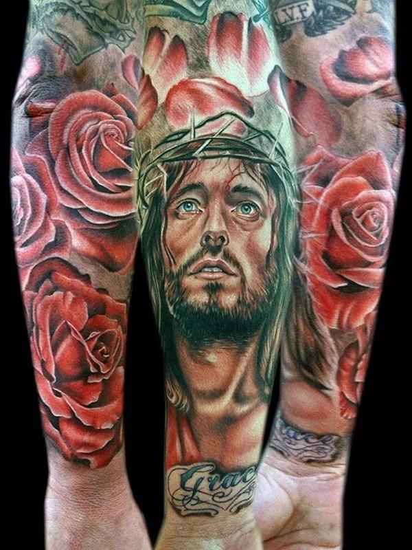 Jesus Tattoos For Men : jesus, tattoos, Jesus, Tattoo, Designs