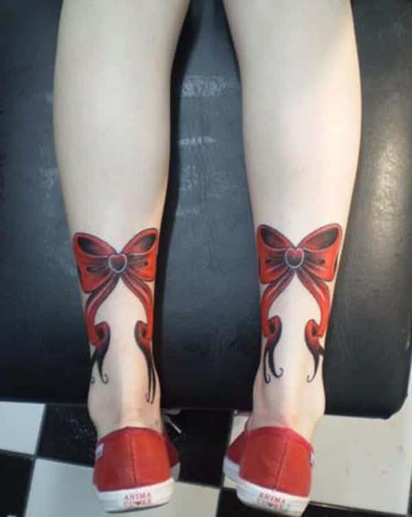 Bow Tattoos On Back Of Legs : tattoos, Trendy, Tattoo, Designs