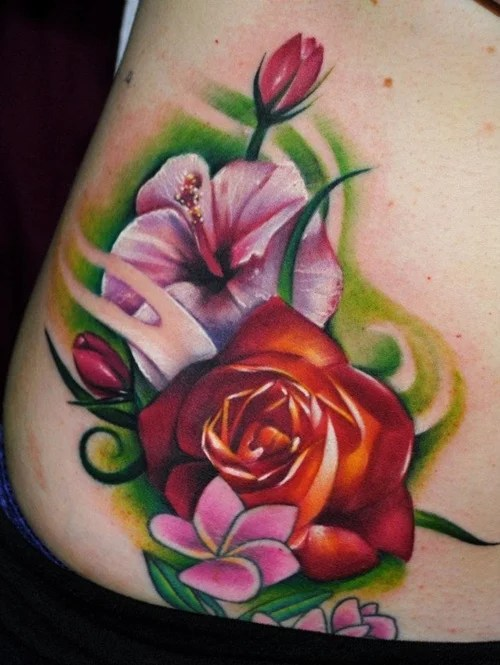 Traditional Hibiscus Tattoo : traditional, hibiscus, tattoo, Stunning, Hibiscus, Flower, Tattoos, Women