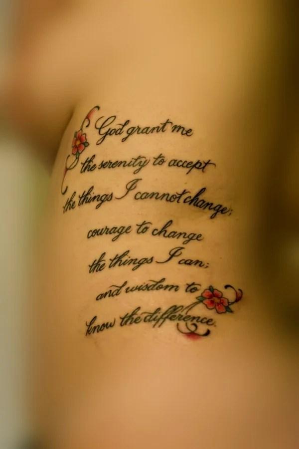 Serenity Prayer Tattoos For Females : serenity, prayer, tattoos, females, Graceful, Serenity, Prayer, Tattoos