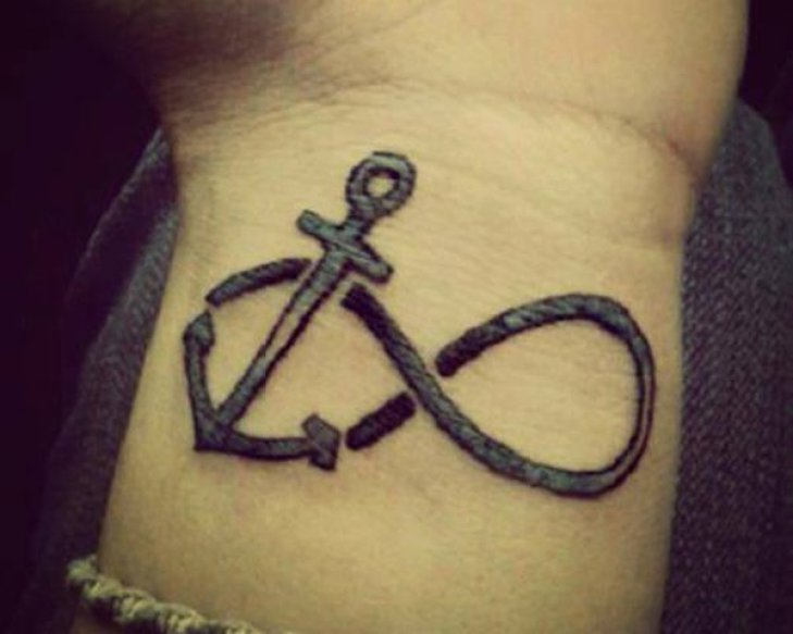 Attractive anchor infinity tattoo designs