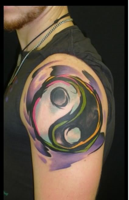yin yang sleeve tattoo