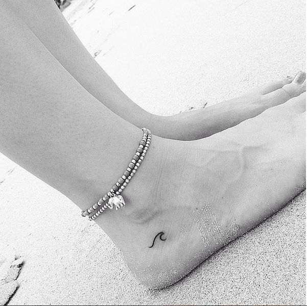 blink and you'll miss it spot tiny tattoo on foot