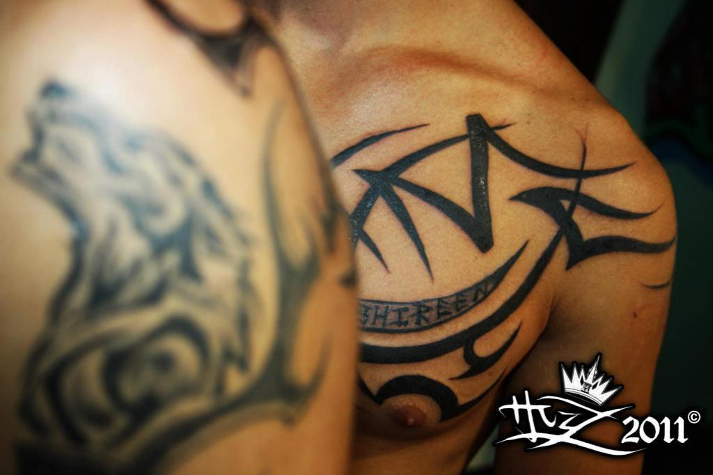 Wolf and tribal tattoo images