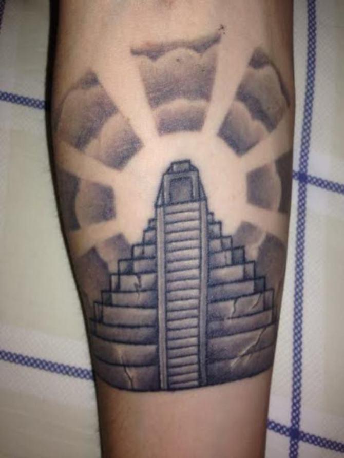 Aztec Pyramids Tattoo : aztec, pyramids, tattoo, Pyramid, Tattoos, Tattoofanblog