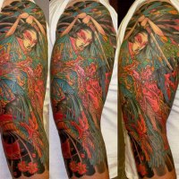 60 Japanese Sleeve Tattoos