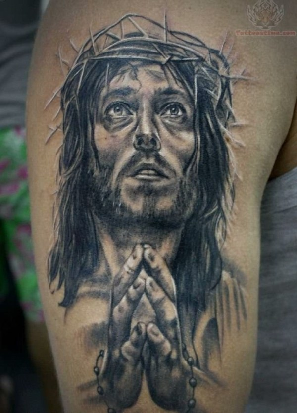 20 Jesus Thorncrown And Cross Tattoos Ideas And Designs