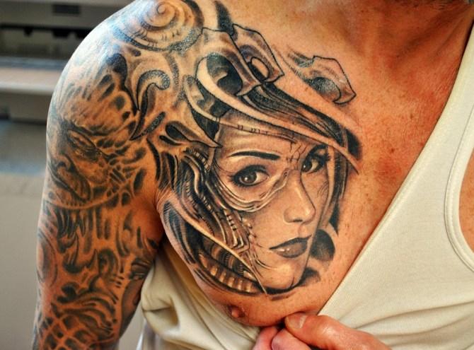 shoulder tattoos men