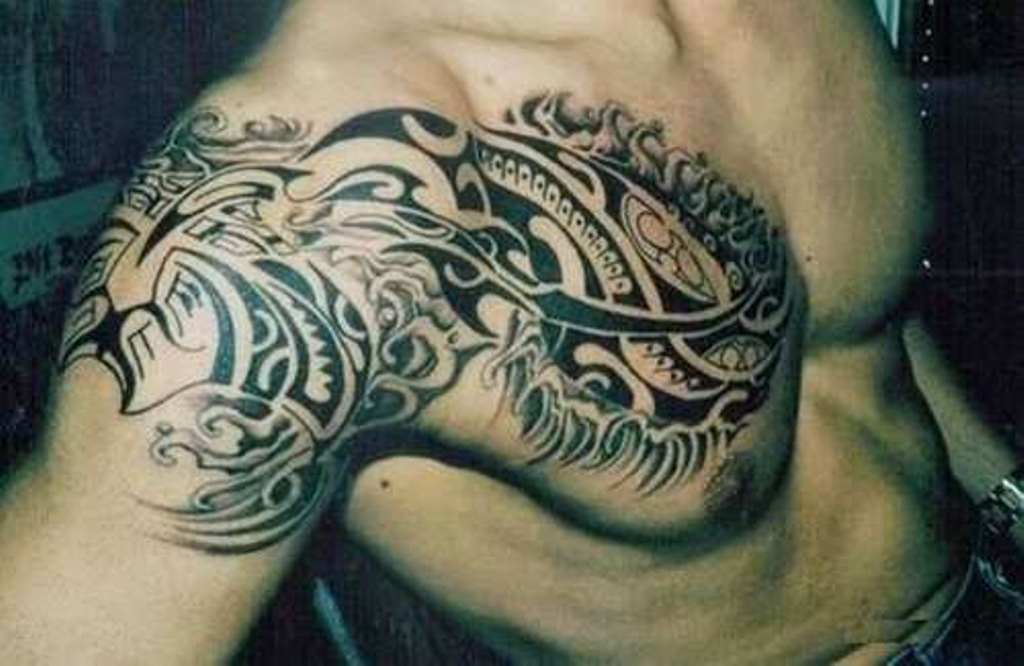 Small Shoulder Blade Tattoos For Men