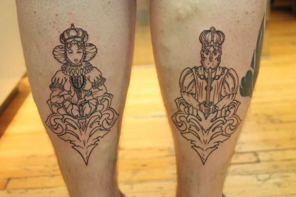 King And Queen Tattoos Small